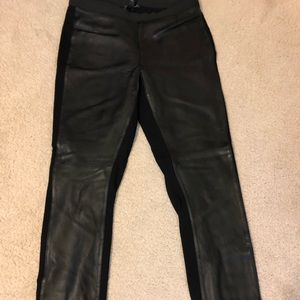 Eileen Fisher XS Leather Front Leggings